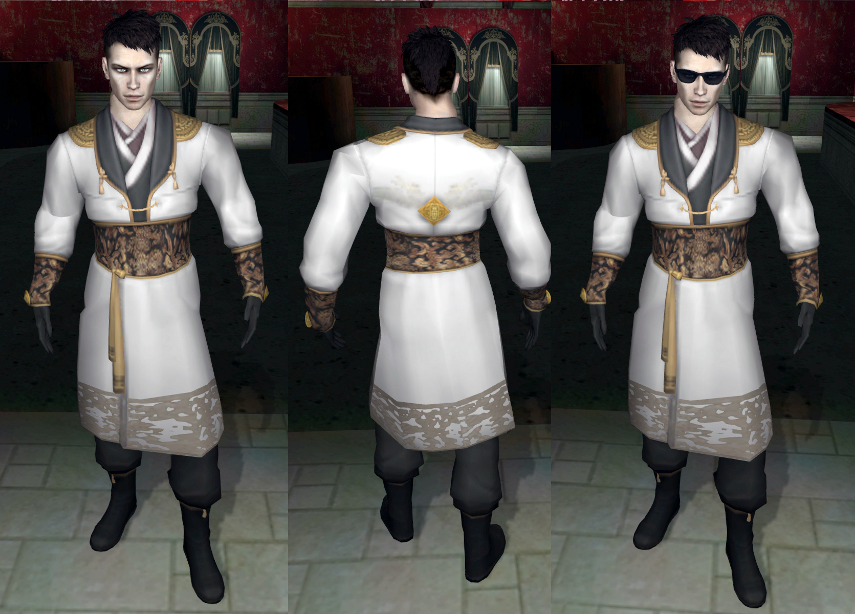 Robed dude with and without sunglasses